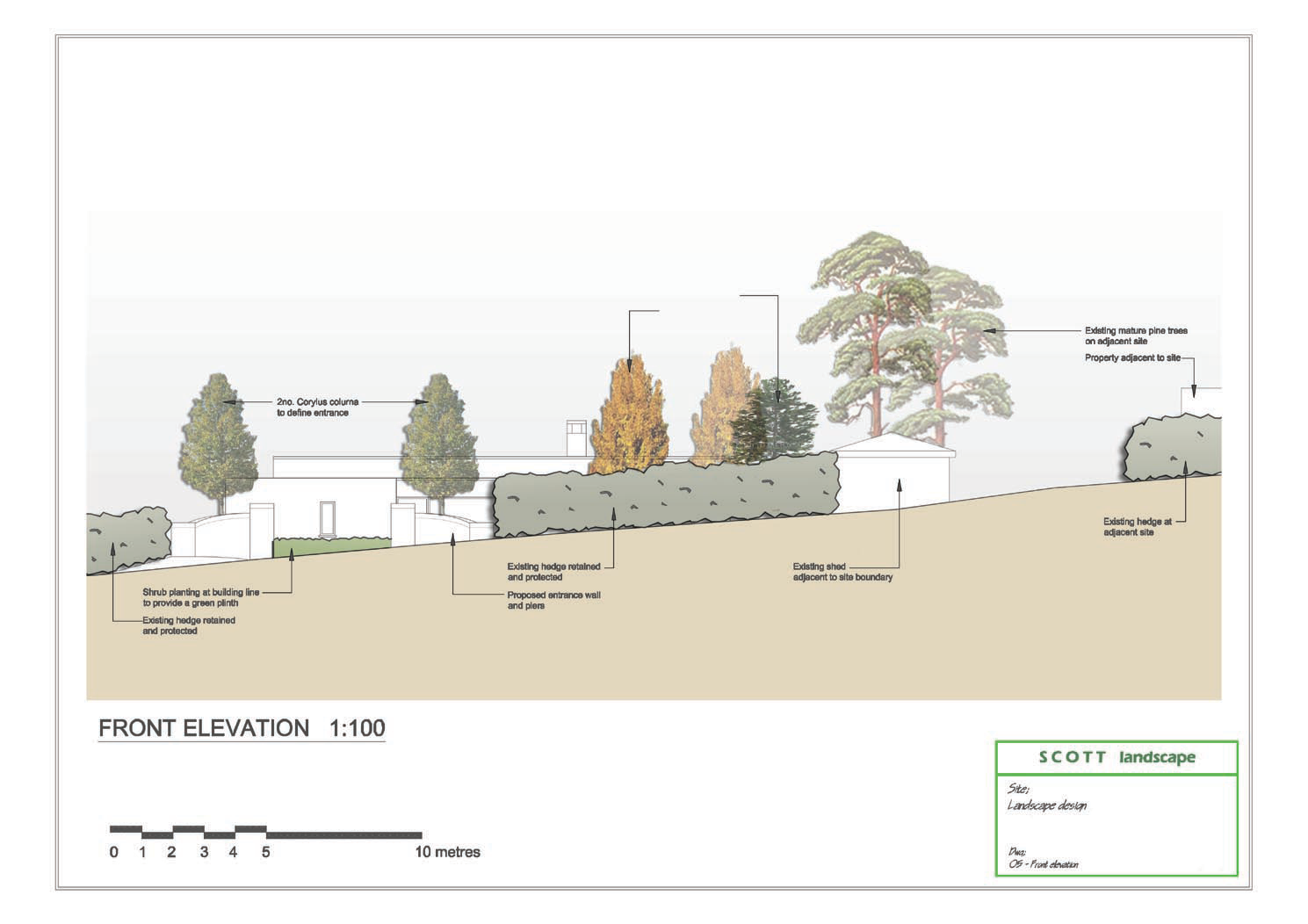 Planning permission for residential property at for Landscape design site